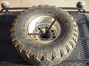 universal roof rack tire mount hummer h1 hummer. Black Bedroom Furniture Sets. Home Design Ideas