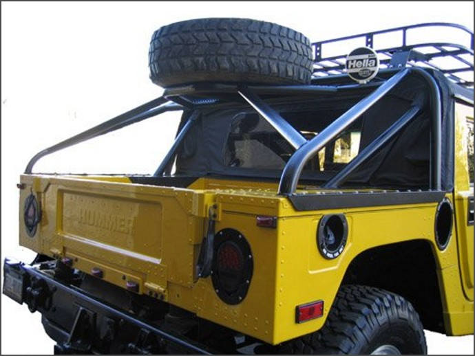 Slant Back Tire Carrier Hummer H1 Accessory Hummer Accessories Spares Europe Pieces